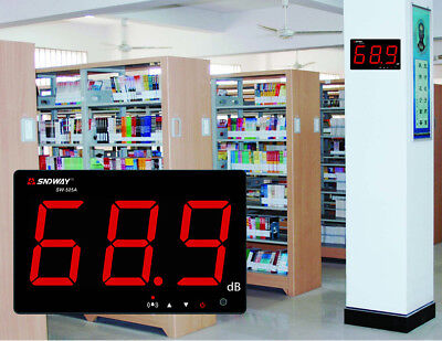 AU Digital LCD Sound Noise Level Meter Wall Hanging Type 30-130dB Noise Tester.
