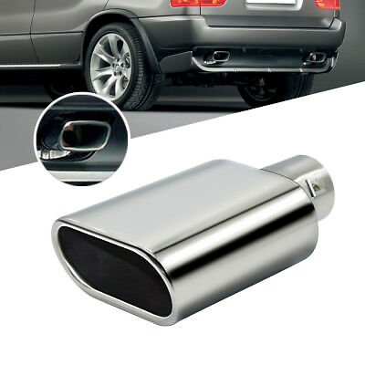 Universal Car Chrome Stainless Steel Exhaust Straight Tail Pipe Tip 60mm Inlet