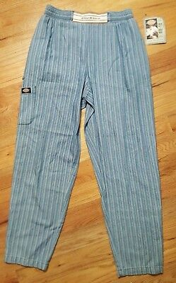 Dickies Chef Pant Blue Stripe Unisex Traditional Baggy CW050104A DES Size SM NWT