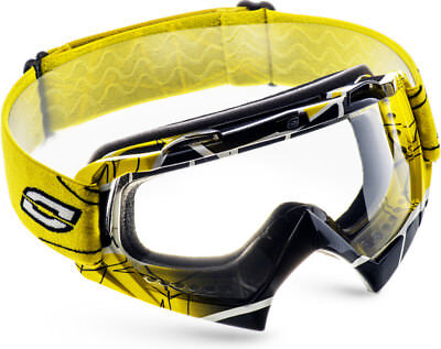OZONE MUD MX Gelb Brille Goggle Crossbrille Motocross Quad Downhill MTB ATV