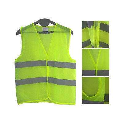 Safety Security High Visibility Reflective Vest Night Work Jogging Running Free