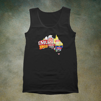 Beer Map Singlet - Great Northern VB West End NT Draught XXXX Cascade Tooheys