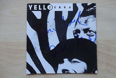 "Yello Autogramme full signed CD Booklet ""Zebra"""