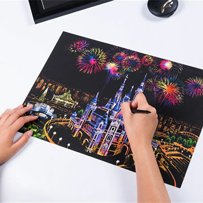 Scratch Painting Picture Night View Travel Edition Design Poster DIY Scratch Pen