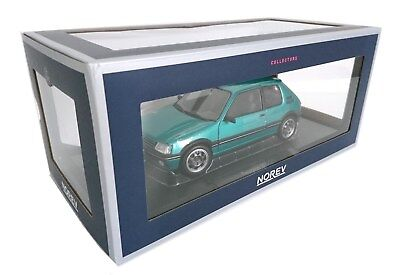 1:18 Peugeot 205 GTI Griffe 1.9L 1990 Green - NOREV MODEL CAR DIECAST