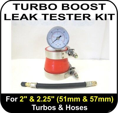 """TURBO BOOST LEAK TESTER Fits 2"""" & 2.25"""" (51 & 57mm) Turbos Pipes Hose Tool"""
