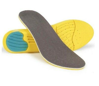 Comfortable MEMORY FOAM Shoe Insoles Inserts Soft Heel Foot Feet Orthotic Care