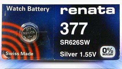 10 X Renata Swiss Silver Oxide Watch Battery 377