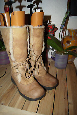 96e054c95 La Canadienne Annabella Shearling Fur Lined Brown Boots 8 M SHEARLING BOOTS  8 M