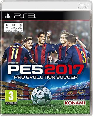 PES Pro Evolution Soccer 2017 PS3 New and Sealed