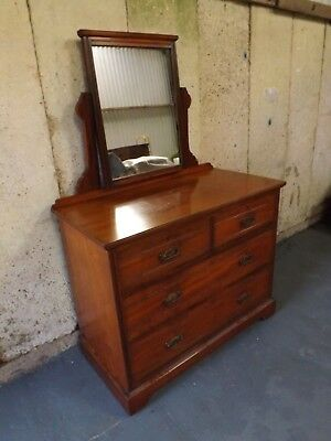 Edwardian satin walnut dressing chest. Excellent condition. UK DELIVERY INCLUDED
