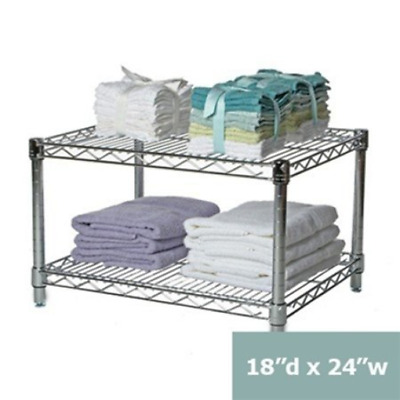 "18""d x 24""w Chrome Wire Shelving with 2 Shelves"