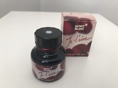 Montblanc Tintenfass ~ Je t'aime 30ml Red Rose-Scented Love-Letter ~ Rarität