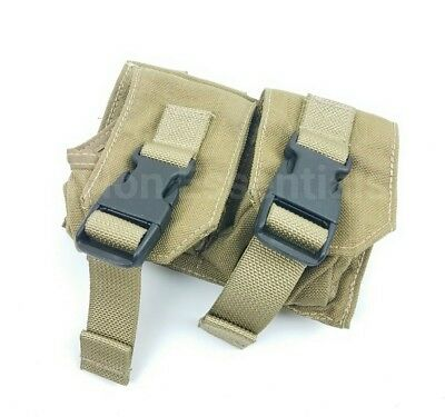 Eagle Allied Industries MLCS Black Buckle Double Frag Grenade Pouch Khaki SEAL