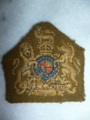 CEF / BEF Army - R.S.M. / W.O. Class 1 Embroidered Trade Patch Sleeve Badge, WW1