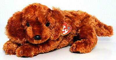 TY Irish Setter Dog Fitz Beanie Baby Mint with Mint Tags