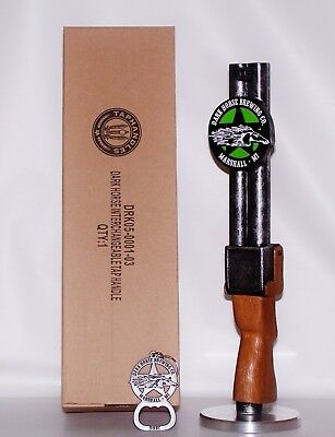 WOW NEW IN THE BOX AWESOME DARK HORSE BREWING BEER SHOTGUN TAP HANDLE w/OPENER!!