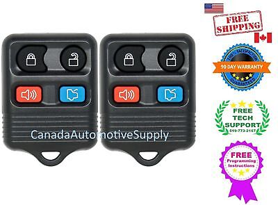 2 New Replacement Keyless Entry Remote 4 Button Fob Fits Ford Lincoln Mercury