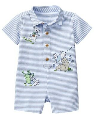 NWT Gymboree Peter Rabbit Striped Romper 0 3 6 12 18 24mo Baby Boy