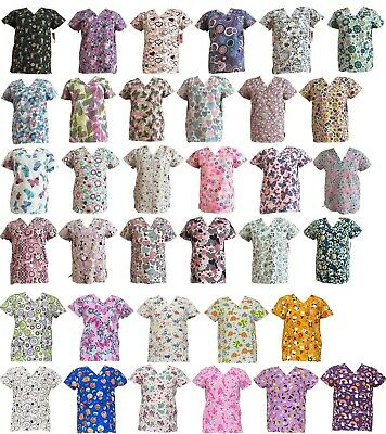 365 Work & Wear Women's Fashion Medical Nursing Scrub Tops Part2