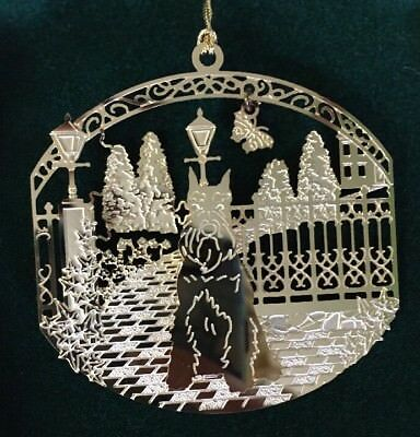 Miniature Schnauzer 24k Gold Plated Ornament New By Kingsheart Forge