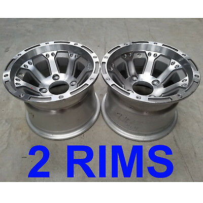 TWO 10x7 4/4 Aluminum Golf Cart RIMs WHEELs fits EZ-GO ClubCar Yamaha Tomberlin