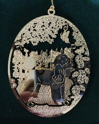 Miniature Poodle 24k Gold Plated Ornament New By Kingsheart Forge