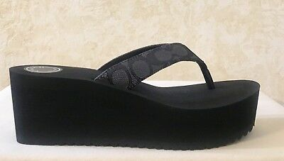 1f874512c5e0 COACH SANDALS SIGNATURE Men s LOGO Leather Milford Style Size 11 ...