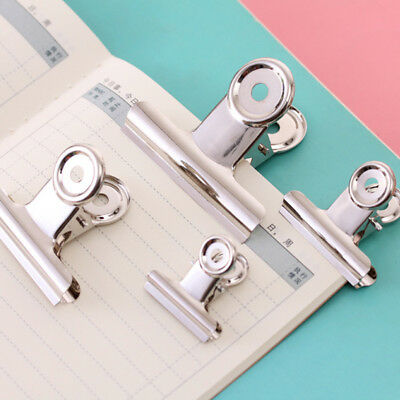 Stainless Steel Bulldog Letter Paper File Clips Silver Metal Hanging Binder Clip