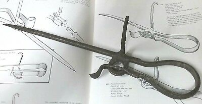 Unusual Antique Miners Blacksmith Iron Candlestick 1900's Twisted Hook Tommy