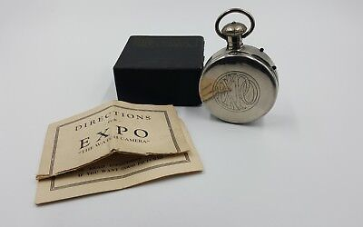 Cool Vintage Expo Pocket Watch Spy Camera w/ Original Box