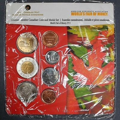 2011 Royal Canadian Mint Coins & Medal Set - ANA World's Fair of Money Chicago
