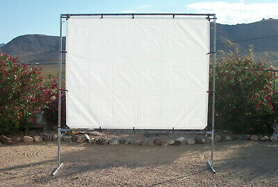 """8' x 10' OUTDOOR STANDING HOME THEATER PROJECTION SCREEN kit~1 3/8"""" Fitting *FS*"""