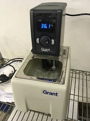 Grant TC120 Heated Circulating Water Bath Used 220-240V With Manual