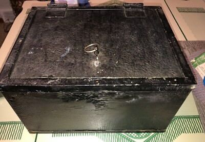 Vintage / Antique Strong Box - Fire Insulated Safe Manufacturers Heavy