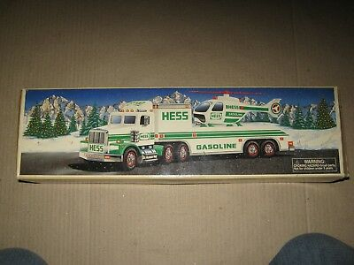 1995 Hess Trucks - Toy Truck & Helicopter  New in Original Box
