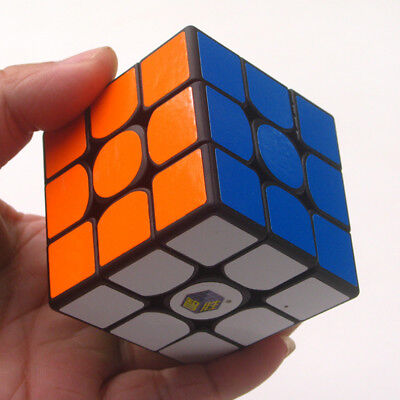 YuXin Little Magic 3x3x3 Speed Contest Magic Cube Twist Puzzle Toys Black Smooth
