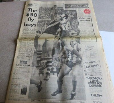 1974 The Herald (Complete) Grand Final Afternoon Edition - Richmond Premiers