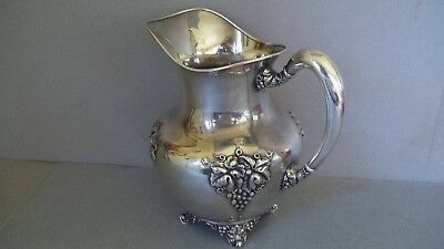 Vintage Silver Plate Wine Pitcher - Forbes Silver Company