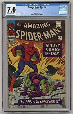 Amazing Spider-Man #40 - CGC 7.0 - OW/White Pages - Origin of Green Goblin