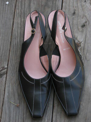 8001012c5b4c Amalfi for Nordstrom Women s Leather Heels - Shoes Size 10 Black Italy