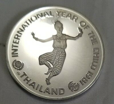 1981 Thailand international year of the child silver proof crown key date