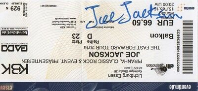 Joe Jackson Autogramme signed Ticket Essen 15.02.2016