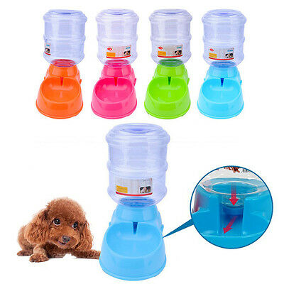 Automatic Pet Dog Cat Puppy Water/Food Dispenser Dog Cat Feeder Bowl Dish 3.5L