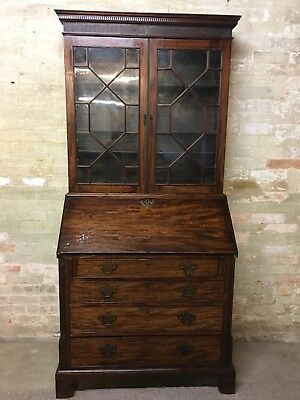 Georgian Mahogany Bureau Bookcase. Delivery Available