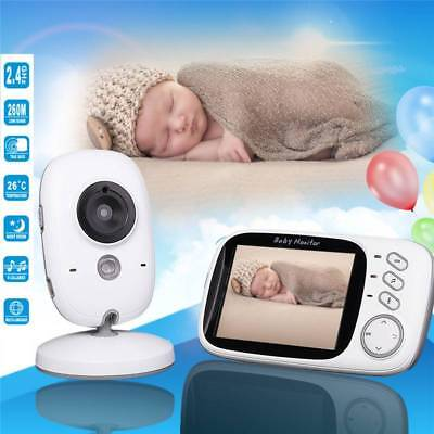 2.4G Wireless Digital 3.2'' LCD Baby Monitor Camera Audio Video Night Vision