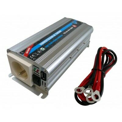 Convertisseur De Tension 24/220V - 600W + Prise Usb 2A