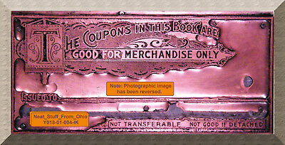 Merchandise Coupon Booklet - Allison Company - Master Letterpress Block - Rare