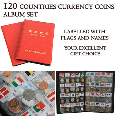 NEW 120 Coin Holder Money Storage Pockets Penny Collection Album Book Collecting