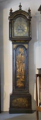 Early 18th Century Chinoiserie London Longcase Clock By Thomas Carrington